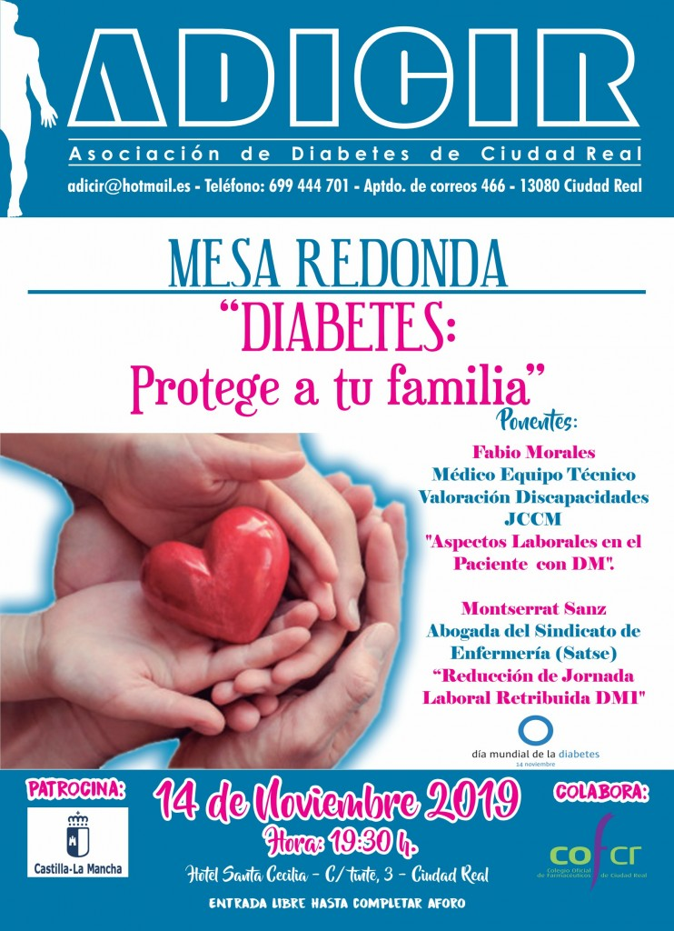 Cartel Dia Mundial de la Diabetes 2019 JPG